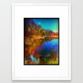 Magic Lake Framed Art Print