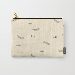 Aquarius Pattern - Beige Carry-All Pouch