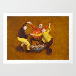 The Belly Feeding Dance / A Dança de encher a Pança Art Print
