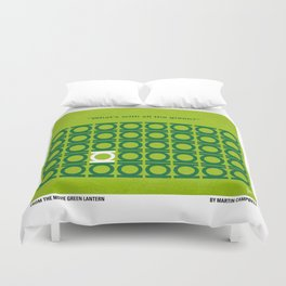No120 My GREEN LANTERN minimal movie poster Duvet Cover