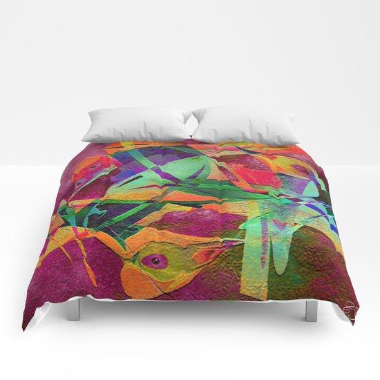 """ Rainbow bird  ""  Comforters"
