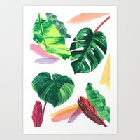 palm Art Prints featuring PALM by Ellie Cryer