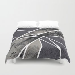 black and white flower Duvet Cover