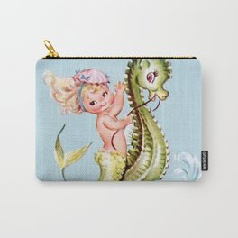 Mermaid on Seahorse Carry-All Pouch