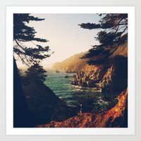 big sur Art Prints featuring Big Sur by Christian Sorensen Hansen