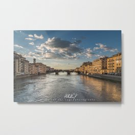 View from the Ponte de Vecchio in Florence, Italy Metal Print