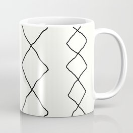 Moroccan Diamond Stripe in Black and White Coffee Mug