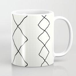 Moroccan Diamond Stripe in Black and White Coffee Mug