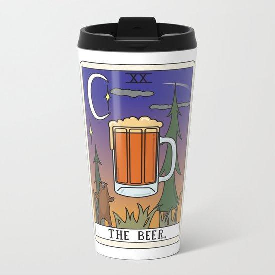 Beer Reading Metal Travel Mug