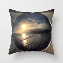 Capturing Avila Beach refraction photography crystal ball Throw Pillow