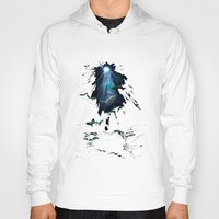 sharks Hoodies featuring Sharks by Naomi Bardoff