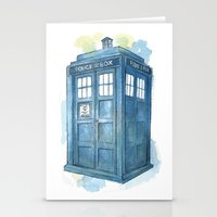 dr who Stationery Cards featuring Dr Who by Iris Illustration