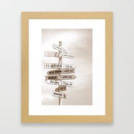 Good Directions Framed Art Print