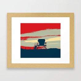 Tower Graphic Framed Art Print