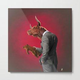 Bull Metal Print