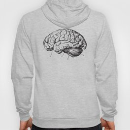 Human Brain Sideview Anatomy Detailed Illustration Hoody