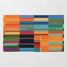 Colorful Retangles Abstract Art Digitalart Home Decor Gift Rug