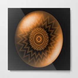 Sacral Orange   Chakra Metal Print