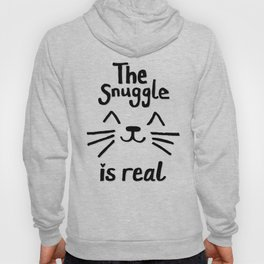 The Snuggle is Real (Black on White) Hoody