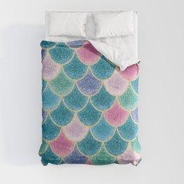 Glittery Mermaid Scales Comforters