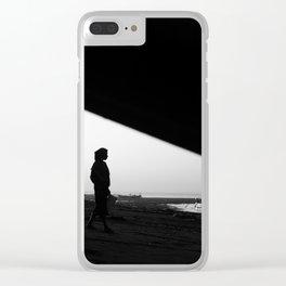 Lombok minimal Clear iPhone Case