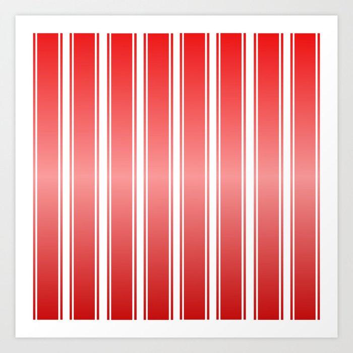 Red Racing Stripes Art Print
