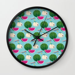 Traditional Japanese summer pattern_F Wall Clock