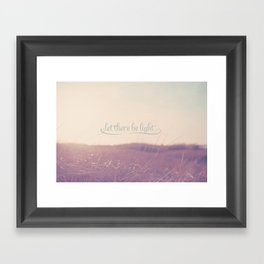Let There Be Light  Framed Art Print