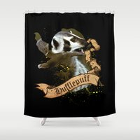 hufflepuff Shower Curtains featuring Hufflepuff by Markusian