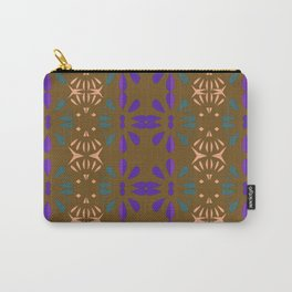 Luxury vint. Ornamnets on brown Carry-All Pouch