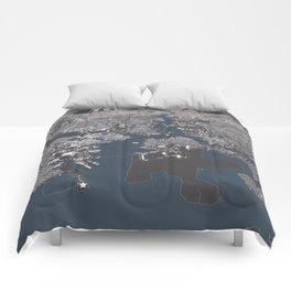 Bosston - City Map II Comforters