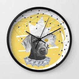 Rich Dog Wall Clock
