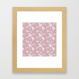 Bounty Floral Rose Framed Art Print