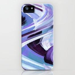 Wavy Blue iPhone Case