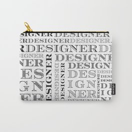 Designer Grid -Black and White Carry-All Pouch
