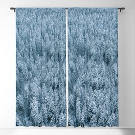 Winter pine forest aerial - Landscape Photography Blackout Curtain