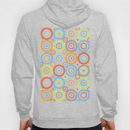 Abstract Circles Pattern Color Mix & Greys Hoody