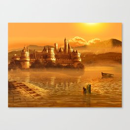The Golden Fairy Tale Castle Canvas Print