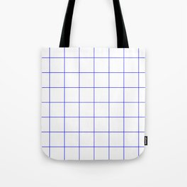Graph Paper (Blue & White Pattern) Tote Bag