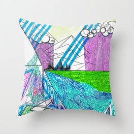 landscape of wonder Throw Pillow