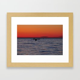Eastern Shore Sunset Framed Art Print