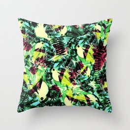 Tossed Toucan  Throw Pillow