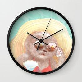 Sunglass Cat Wall Clock