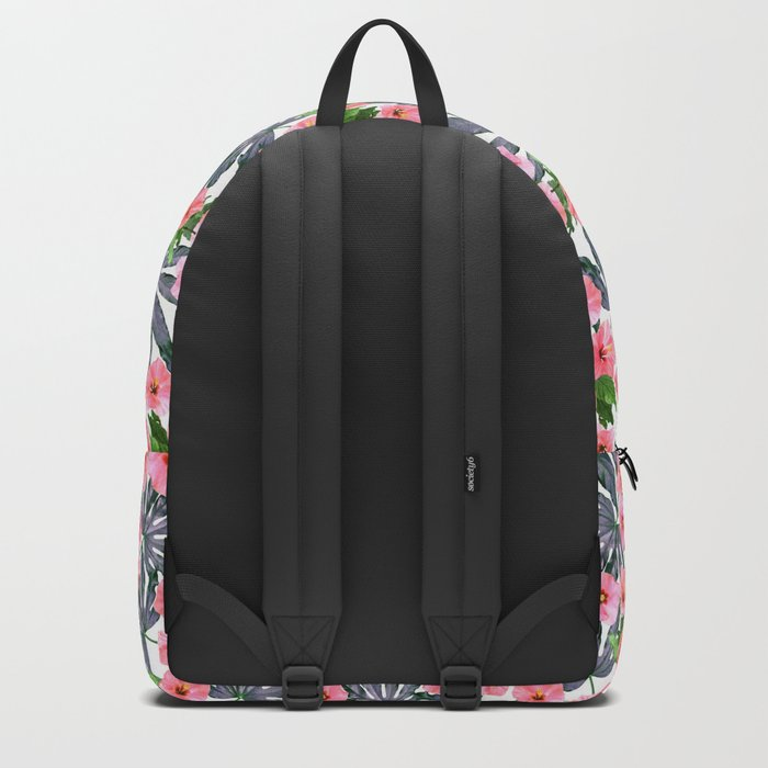 Tropical Blossom in Pink Backpack