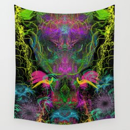 Crabgrass Entrancement (totem, psychedelic, visionary) Wall Tapestry