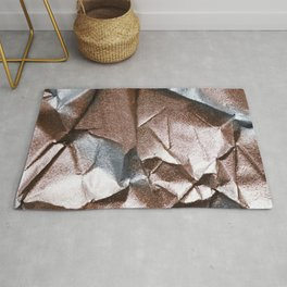 Rose Gold and Silver Abstract Rug