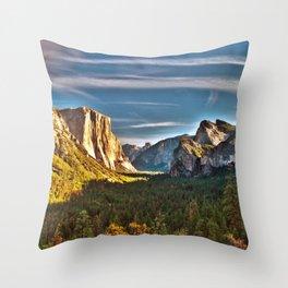 Yosemite Mountains, Yosemite National Park, California Throw Pillow