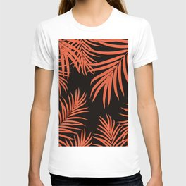 Palm Leaves Pattern Orange Vibes #1 #tropical #decor #art #society6 T-shirt