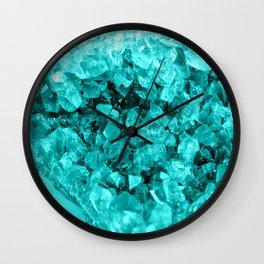 Sparkling Aqua Amethyst Wall Clock