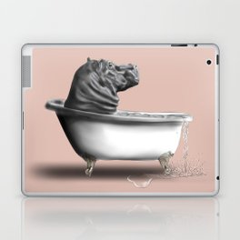 Hippo in Bath Laptop & iPad Skin
